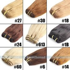 "Remy 100% Human Hair Straight Weaving Weft Extensions 16"" 18"" 20"" 22"" 24"" 100g"