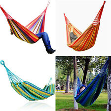 Outdoor porch hanging swing bed no stand person camping hammock 3 color canvas