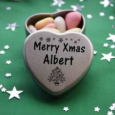 Merry Xmas Albert Mini Heart Tin Gift Present Happy Christmas Stocking Filler