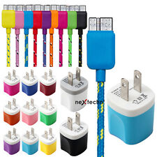 2 in 1 Ac Wall Charger+Braided Micro USB 3.0 Charging Cable for Galaxy S5 Note 3