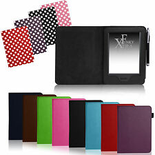 FOR AMAZON KINDLE TOUCH 7TH GEN 2014 - LEATHER CASE COVER WALLET AUTO SLEEP/WAKE