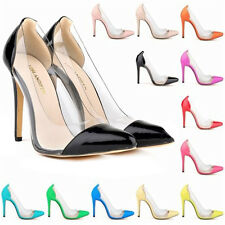 Womens Patent High Heels Corset Style Work Party Pumps Court Shoes UK Size 2 - 9