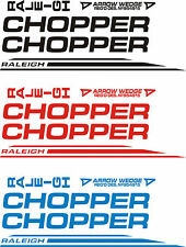 """Raleigh """"CHOPPER MK 2"""" sticker/decal set (ALL COLOURS AVAILABLE)"""