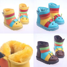 Baby Kids Toddler Children Winter Boots Snow Boot Warm Waterproof, 1-7 years