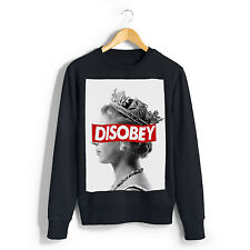 NEW BLACK DISOBEY THE QUEEN SWEATSHIRT MEN DOPE SWAG HIPSTER OBEY UNISEX ER2