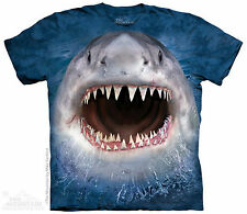 Wicked Nasty Great White Shark The Mountain Adult & Child Size T-Shirts