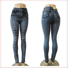 Sexy Blue Skinny High Waist 2015 Fashion Style Casual Women Denim Jeans Pants