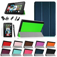 "For Amazon Fire HD 6"" Lightweight Leather Case Wake/Sleep Cover + 6in1 Bundle"