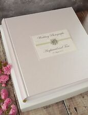 Large Personalised Book Bound Ivory Wedding Photograph Album- 48 PAGES/96 SIDES
