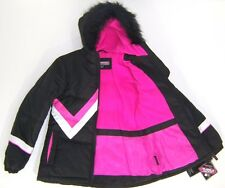 Girls Performance Gear Hooded Winter Bubble Jacket NWT Sz 10/12  or 14 Black