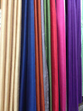 "2 Piece Solid Faux Silk Grommet Window Treatment Curtain Panel Drapes 55"" X 63"""