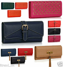 Ladies Purses Large Designer Womens Wallets Girls Coin Card Holder Faux Leather