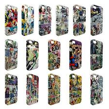 Full Wrap DC Marvel superhero comic book cover case for Apple iPhone - W4