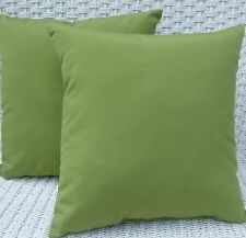 2 Pack ~ Kiwi Green  Decorative Indoor Outdoor Throw Toss Pillow Made In  USA