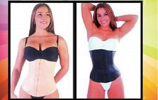 BODY SHAPERS FOR WOMEN LATEX WAIST TRAINER CINCHER ANNAMARYE 753 BLACK