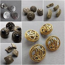 Antique Metal Carved Pattern Design Sewing Buttons Crafts Classic & Simple