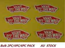 2/4/6PC Vans Off the Wall Luggage Car Bike Skateboard  Laptop Decal Stickers