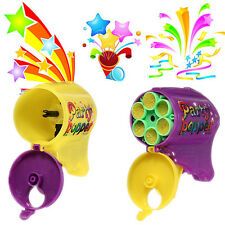Party Poppers Confetti Wedding Shooter Gun Cannon Streamer New Years Eve 6 shots