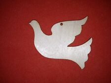 10 x DOVE  SHAPE UNPAINTED LABEL BLANK WOODEN VINTAGE XMAS HANGING WEDDING TAG