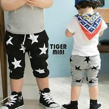 Toddler Boy Cotton Harem Shorts Pants Casual Stars Pattern Trousers Bottoms 2-6Y