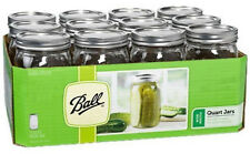32oz Ball Wide Mouth Canning Mason Jars Case Lids Bands Wedding Preserves Quart