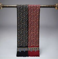 Gift!   Mens 100% Mulberry Silk Long scarf  Winter  Spring Blue Red ●M411#