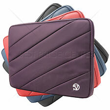 VG Nylon Dual Padded Striped Sleeve Pocket Case Cover for Sony VAIO Fit 15.5'