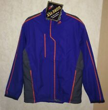 NEW Mens M ADIDAS Climaproof Blue Orange Gore Tex Sample Waterproof Rain Jacket