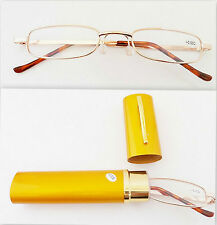 SLIM METAL FRAME READING GLASSES LOT & CASE +1.00,+1.50,+2.00 +2.50 +3.00 +3.50
