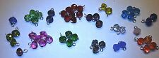 Crystal Charm Dangle Birthstone Month Red Green Blue Purple Yellow Teal Pink