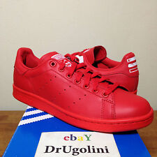 Adidas Originals x Pharrell Williams Stan Smith size 4-14 red Solid Pack B25385