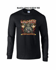 Hogs, Dogs & Tusks Hunting Boars LONG-SLEEVE TEE Sm Med Lg XL 2X 3X