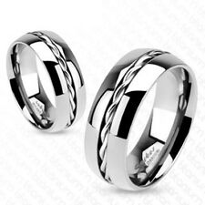 """Titan Men Ladies Ring Silver """"Rope Twist Inlay"""" New- Jewellry By ALLFORYOU"""