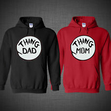 Thing Mom Thing Dad Dr Seuss thing 1 Family Christmas gift hoodie
