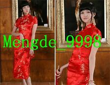 Gorgeous Chinese Rayon Cheong-sam Charming Women Evening Dress M358