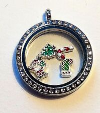 HOLIDAY Santa, Christmas tree, Easter egg and other floating locket charms 4
