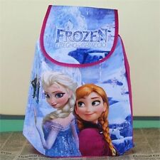 Hot Frozen Elsa Anna Peppa Pig Drawstring Backpack School Bag Kids Xmas Gift