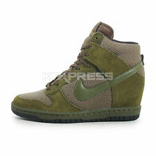 Nike WMNS Dunk Sky Hi Essential [644877-302] NSW Casual Wedges Rough Green/Black