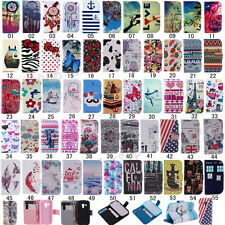 Fashion Flip Printed PU Leather Holder Wallet Case Soft Back Cover For Samsung