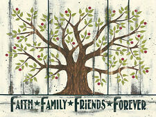 Art Print, Framed or Plaque by Linda Spivey - Faith Family Friends... - LS1441