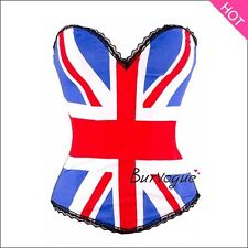 top edhardy punk and bustier skull corset UK flag corselet women party club wear