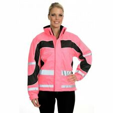 Equisafety Aspey Winter Jacket - Hi Viz Reflective Horse Riding Jacket - Pink