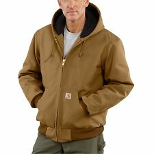 Carhartt Duck Active Jacket Quilted Flannel Lined Carhartt Brown J140 BRN
