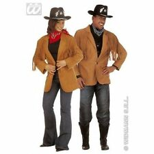 Mens or Ladies Adult Wild West Cowboy Jacket Fancy Dress Costume Outfit New