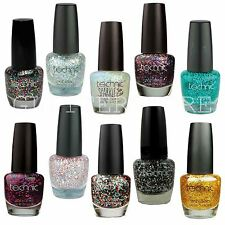 Technic Glitter Nail Varnish All Colour Glitter Chunky Sparkly Nail Polish