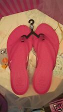 New WOMEN All Sizes Really Sexi FLIP-FLOP CROCS THONGS Sandal Shoes Fuchsia Pink