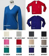 UNIQLO Women 100% Cashmere V Neck Sweater Best Deal Best Buy from Japan New