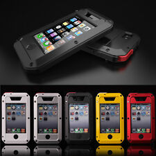 Waterproof Shockproof Aluminum Gorilla Glass Metal Case Cover for Apple iPhone @