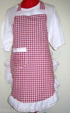 GIRLS PERSONALISED GINGHAM APRON Made to fit Most colors up to 12years of age