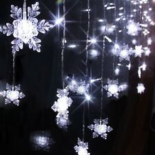 2M*1M 104LED Christmas Party Fairy Snowflake String Curtain Lights Decor